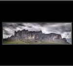 A panorama of the Superstition Mountains