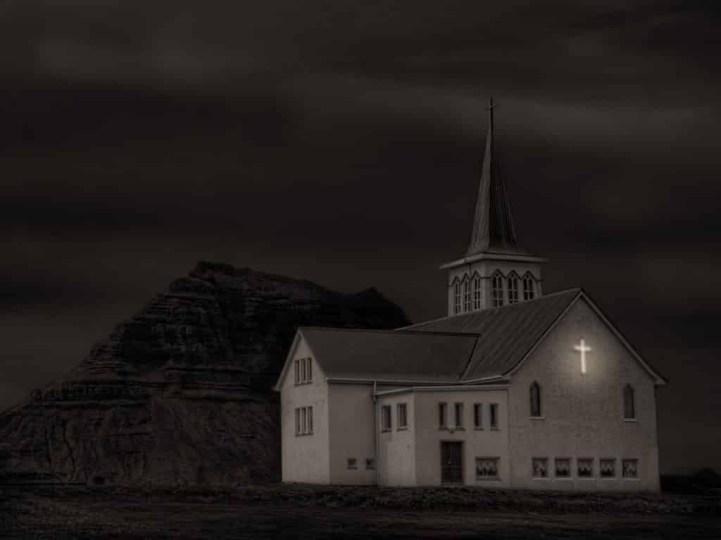 Church and Church Mountain - Black + White Show 2013 Center for Fine Art Photography