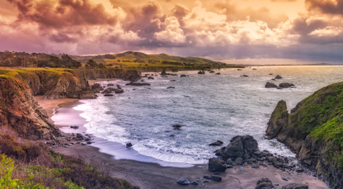 A view from Duncan's Landing, about half way between Bodega Bay and Jenner, California, off CA Highway 1 - California's Pacific Coast