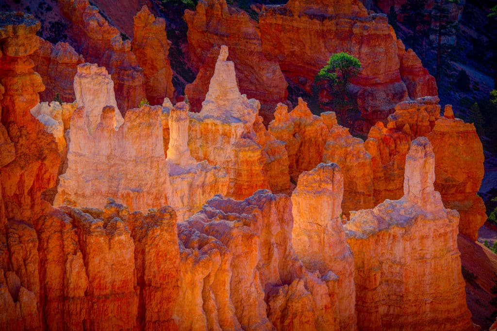 Sunrise view from Fairlyland Point in Bryce Canyon National Park, Utah.