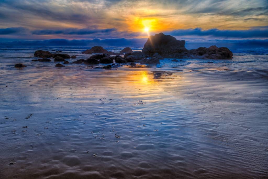 Cannon Beach Sunset - Oregon's Pacific coast