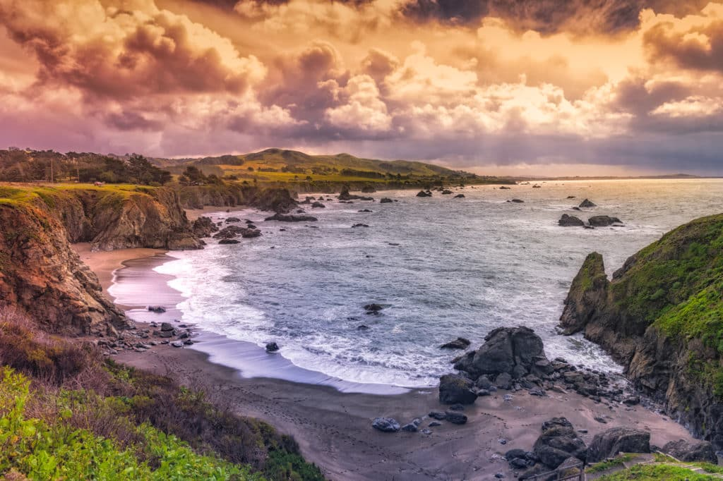 A view from Duncan's Landing, about half way between Bodega Bay and Jenner, California, off CA Highway 1.