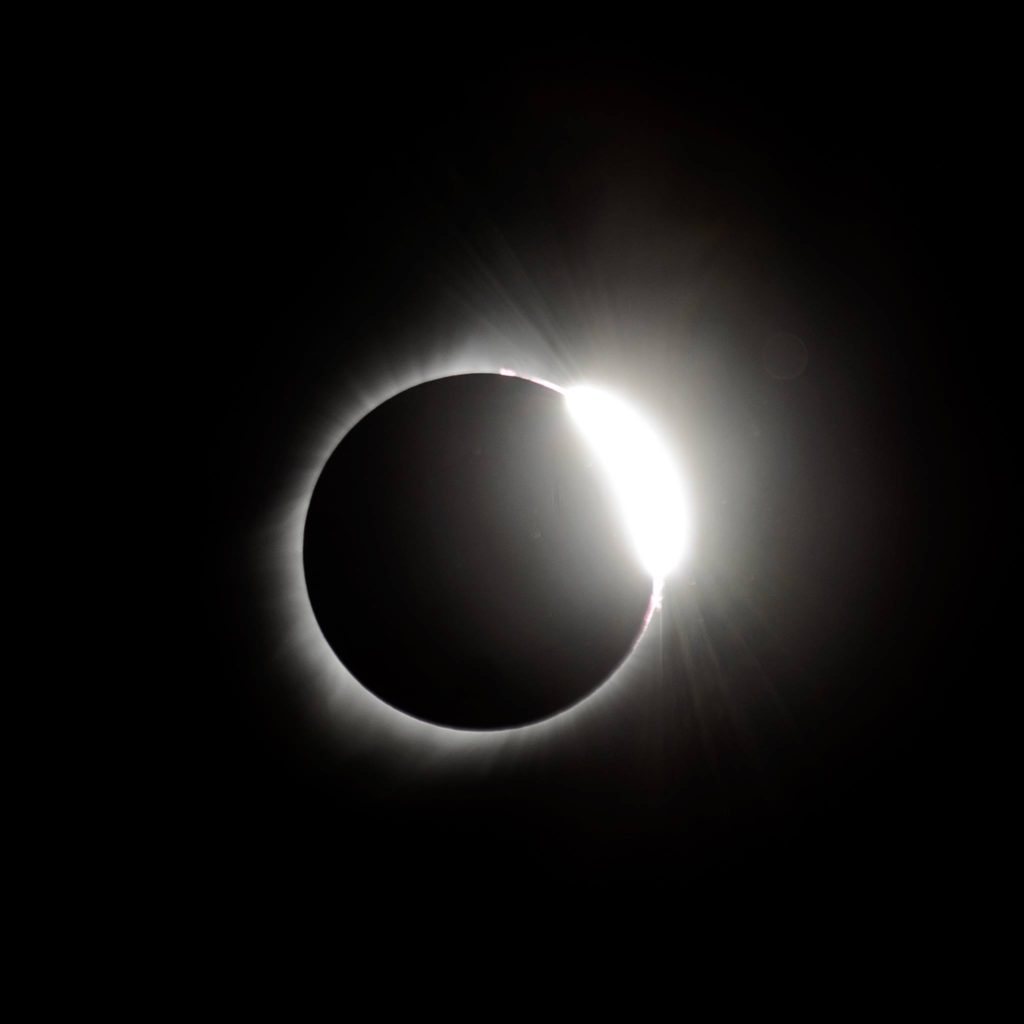 The diamond ring phase of the eclipse. 2017 Eclipse Photos.