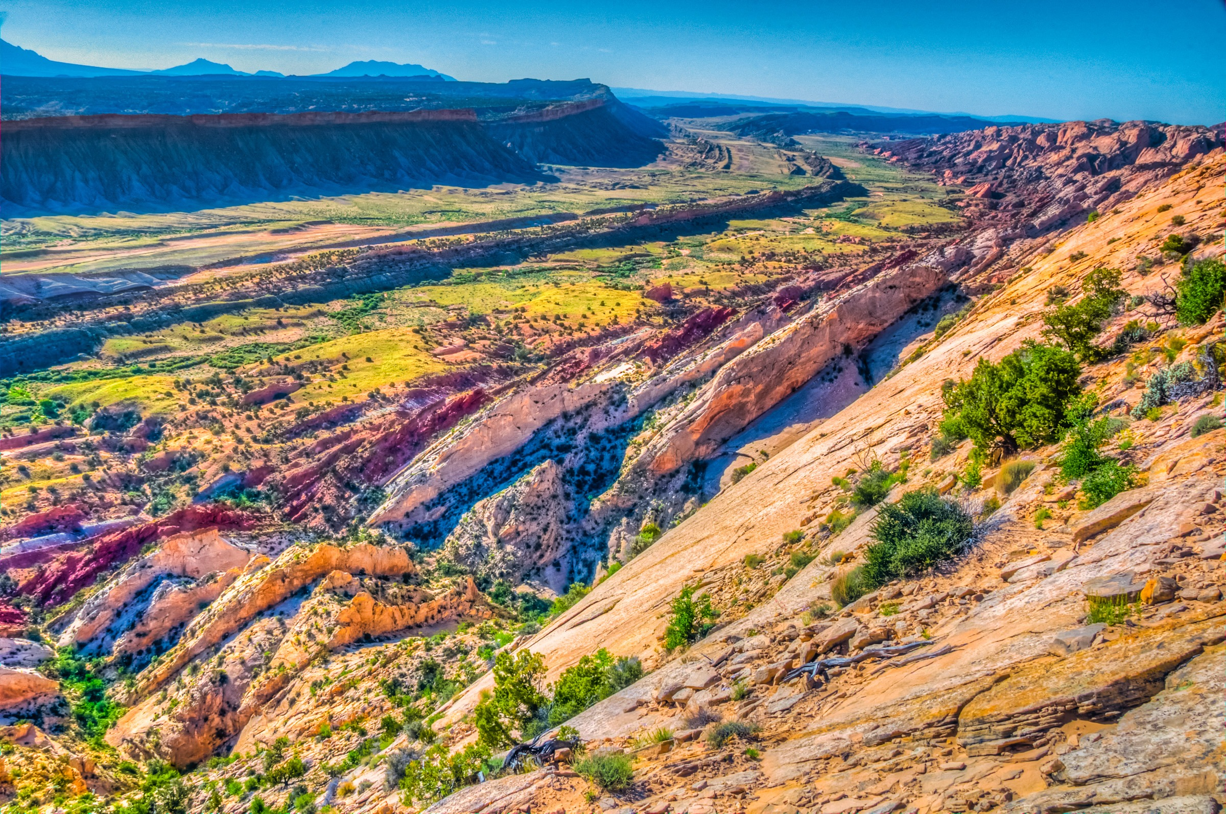 Looking south from Strike Valley Overlook in Capitol Reef National Park.