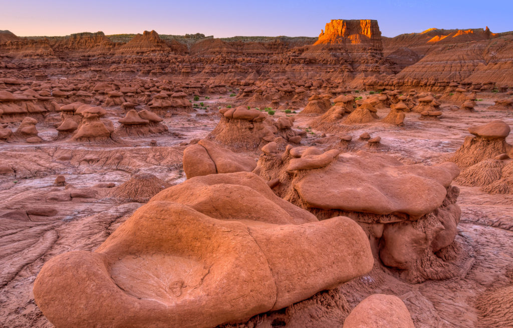 Rocks looking like tiny goblin give Goblin Valley State Park its name.