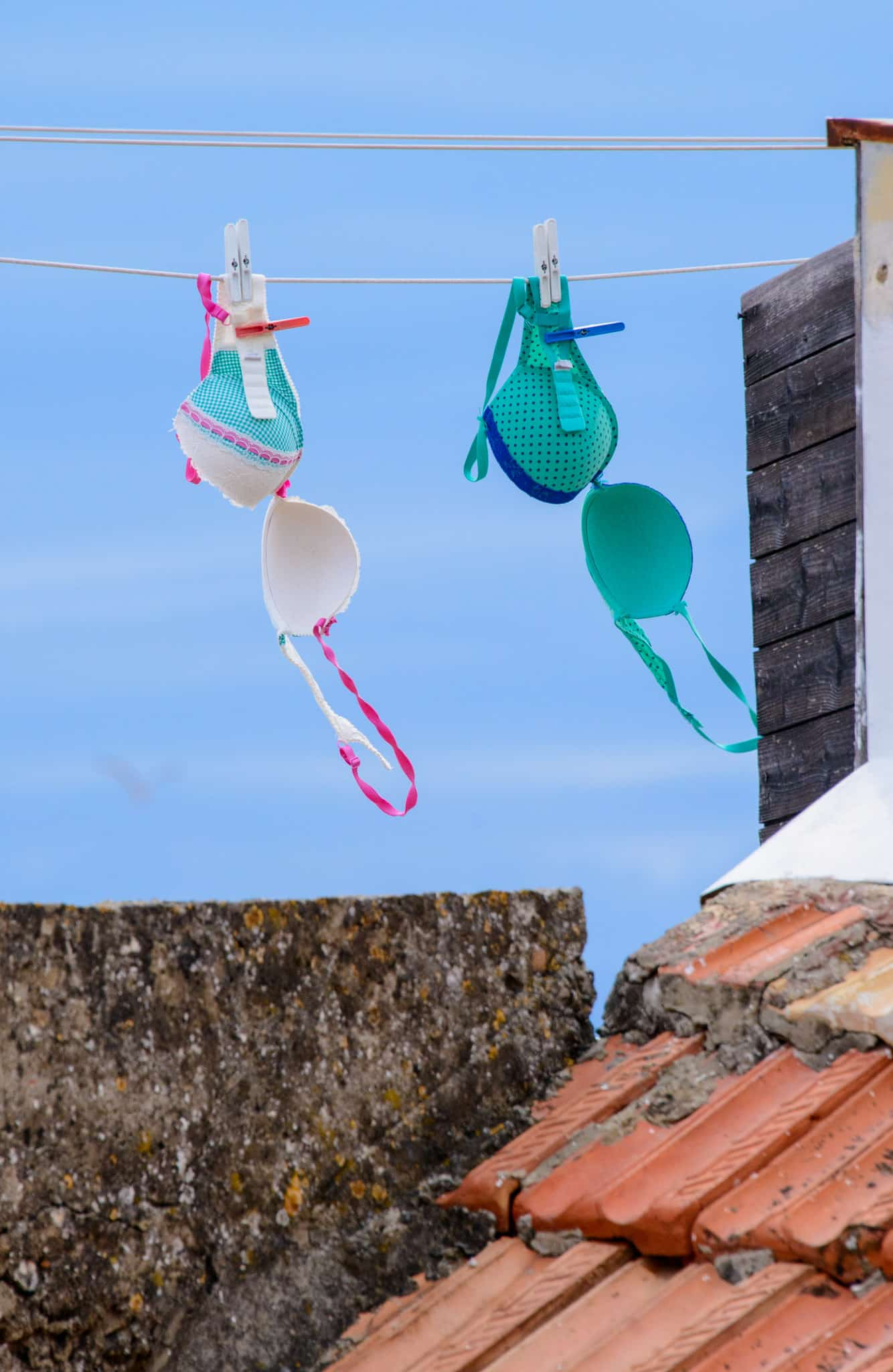 A little bit of laundry blowing in the breeze in Dubrovnik's Old City in Croatia.