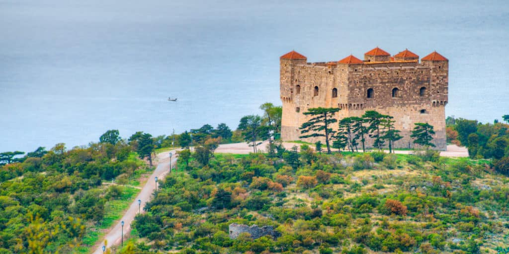 A view of the Nihaj Fortress, built in the 16th Century on the hill if the same name, near the northern Dalmatian city of Senj in Croatia.