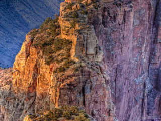 Edge of Wotans Throne at dawn on the North Rim of the Grand Canyon. - Grand Canyon North Rim