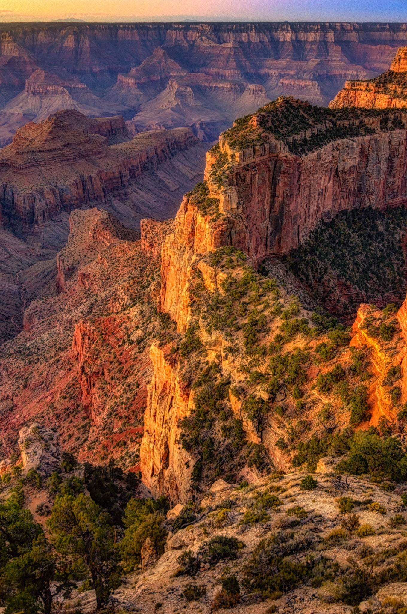 Ridge at the east end of Wotans Throne at Cape Royal on the North Rim of the Grand Canyon. - Grand Canyon North Rim