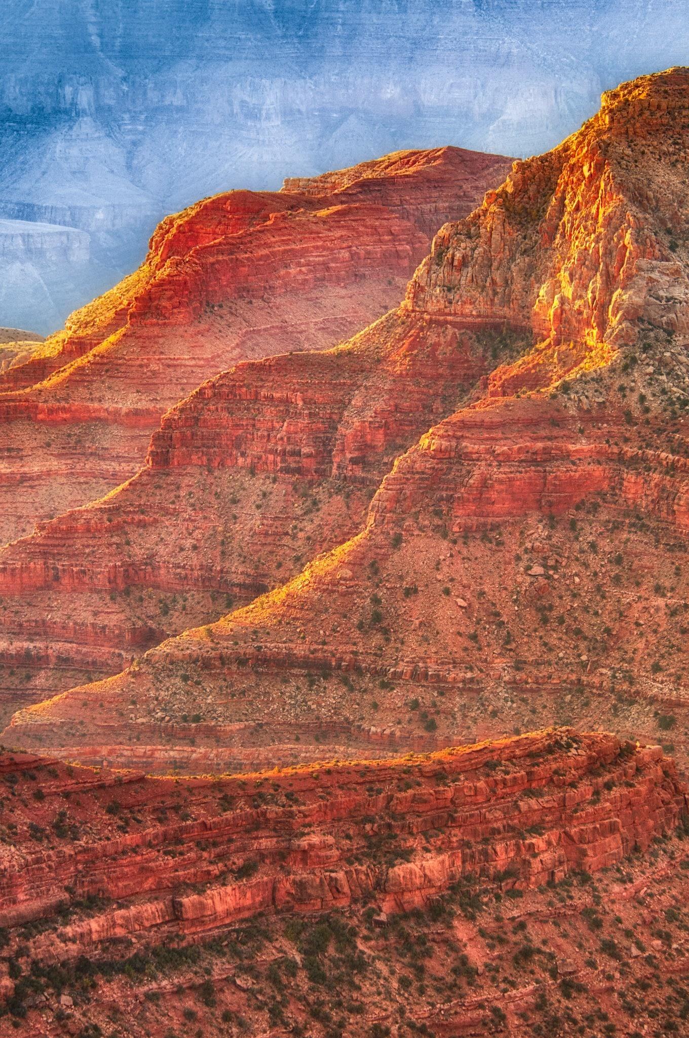 Dawn along the flank of Freya Castle on the North Rim of the Grand Canyon. - Grand Canyon North Rim