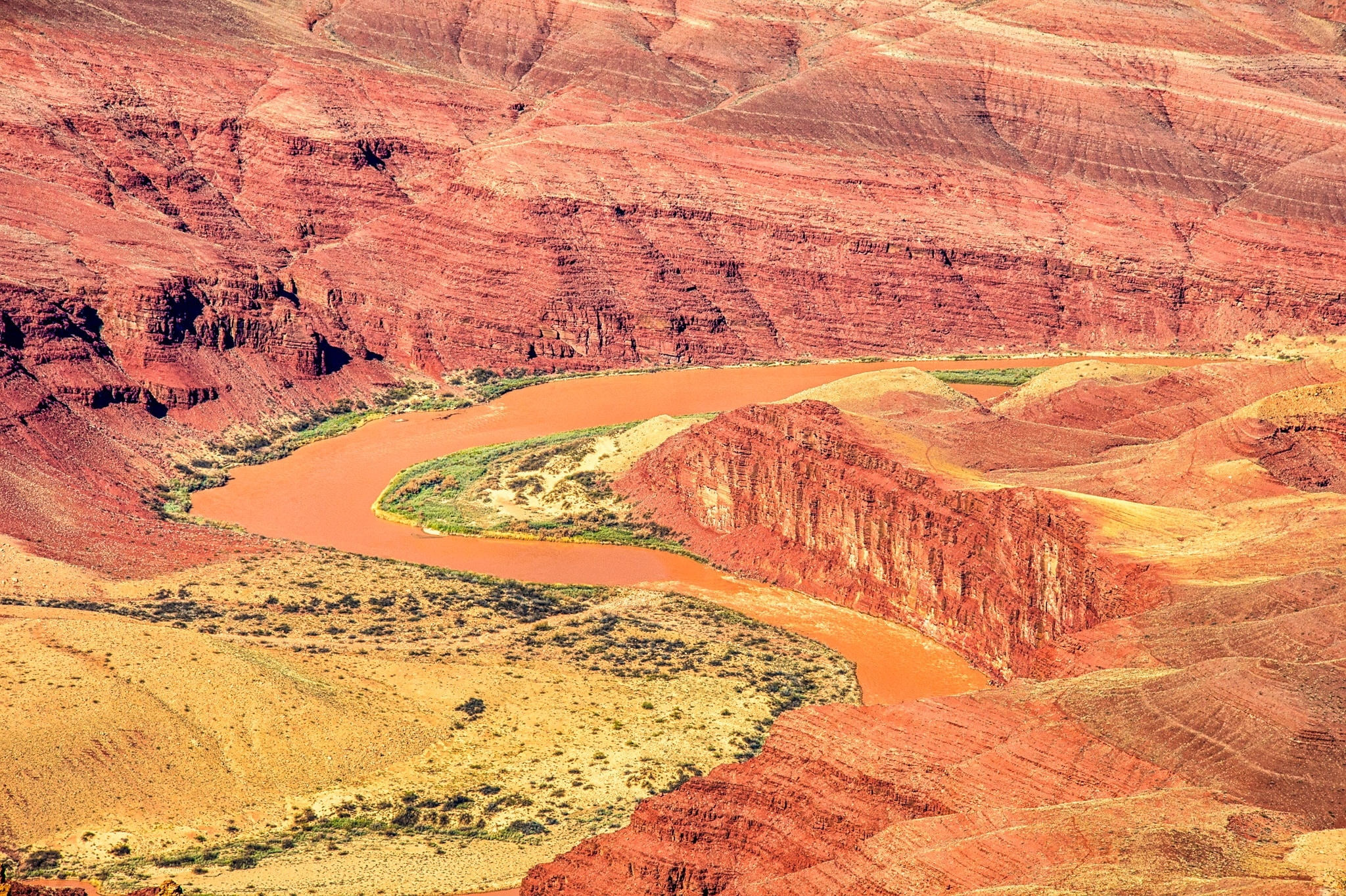 The Colorado River as seen from a Grand Canyon Overlook.