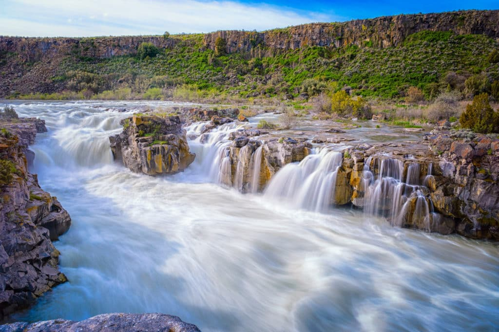 Caldron Linn is an area of falls and cascades in the Snake River near Twin Falls, Idaho.