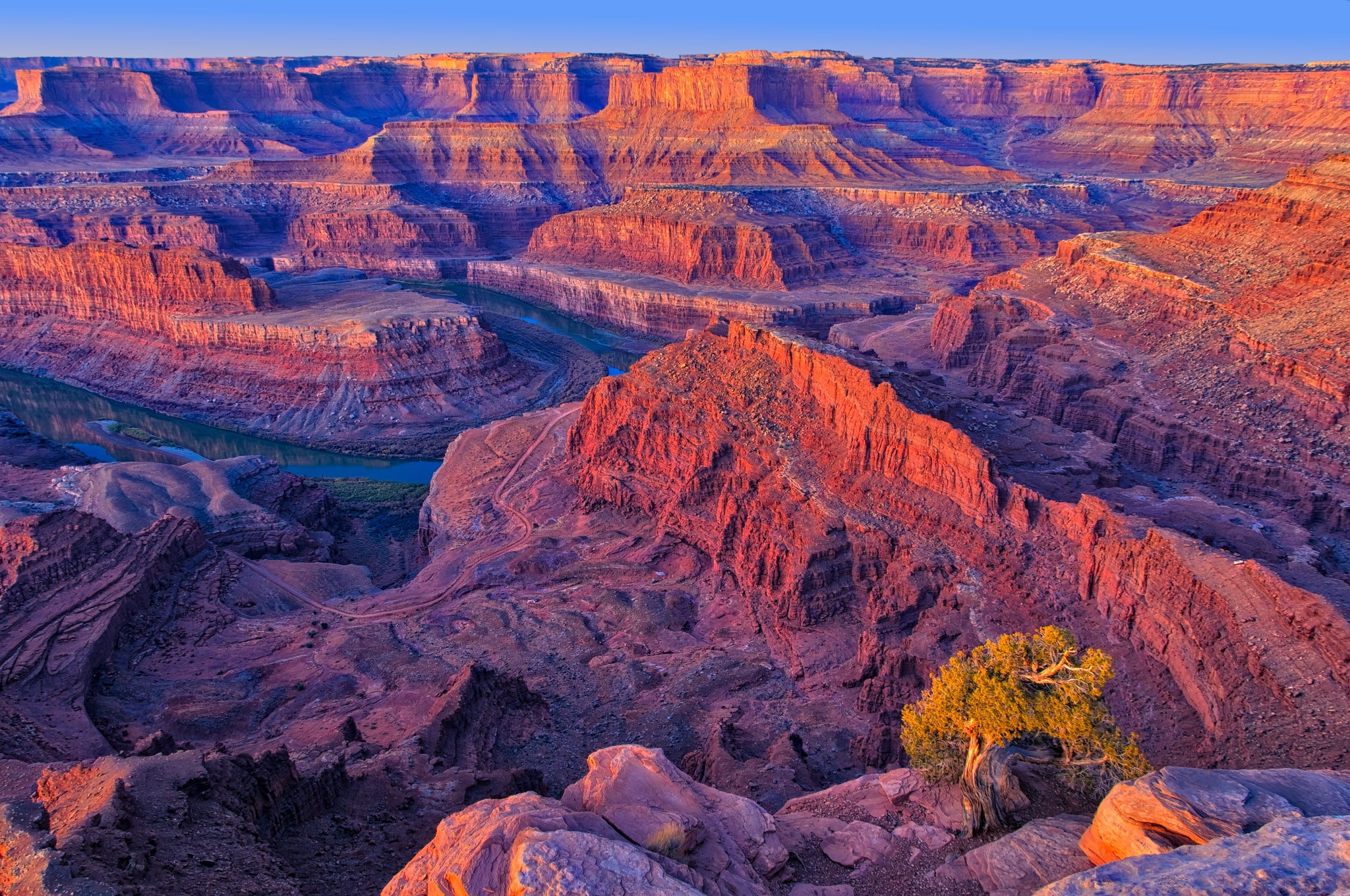 A view of the Colorado River running through Canyonlands National Park in Utah.