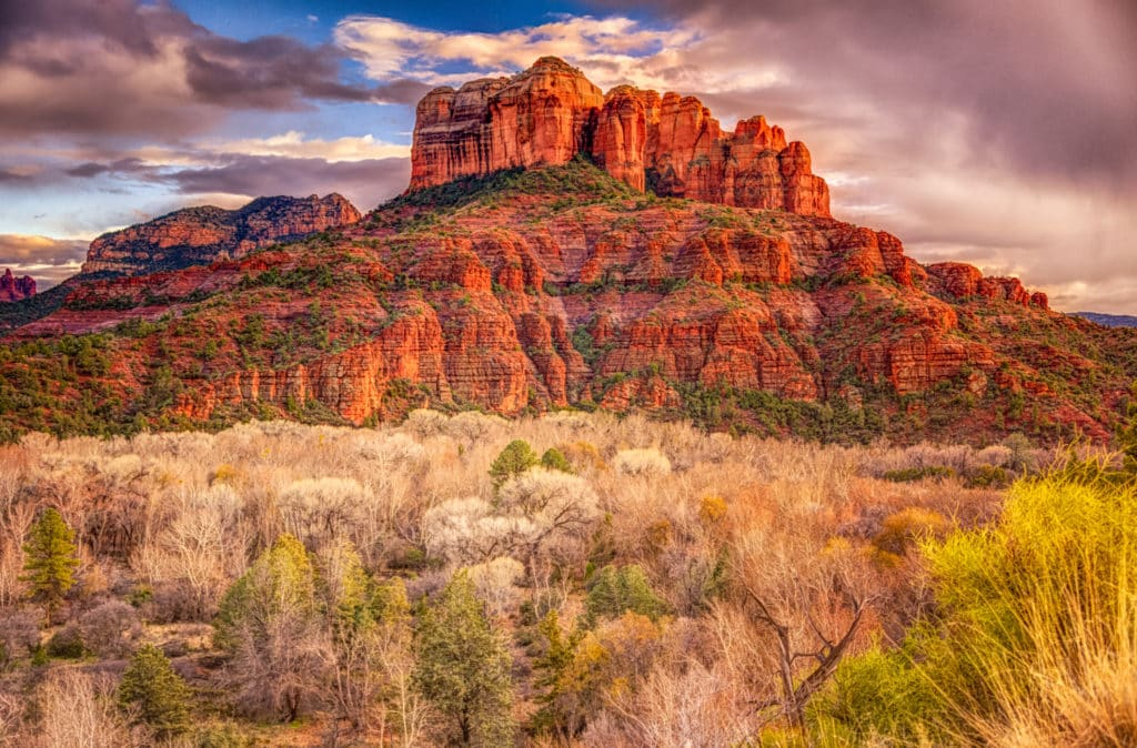 Bell Rock as seen from the Bell Rock Trail in Sedona, Arizona.