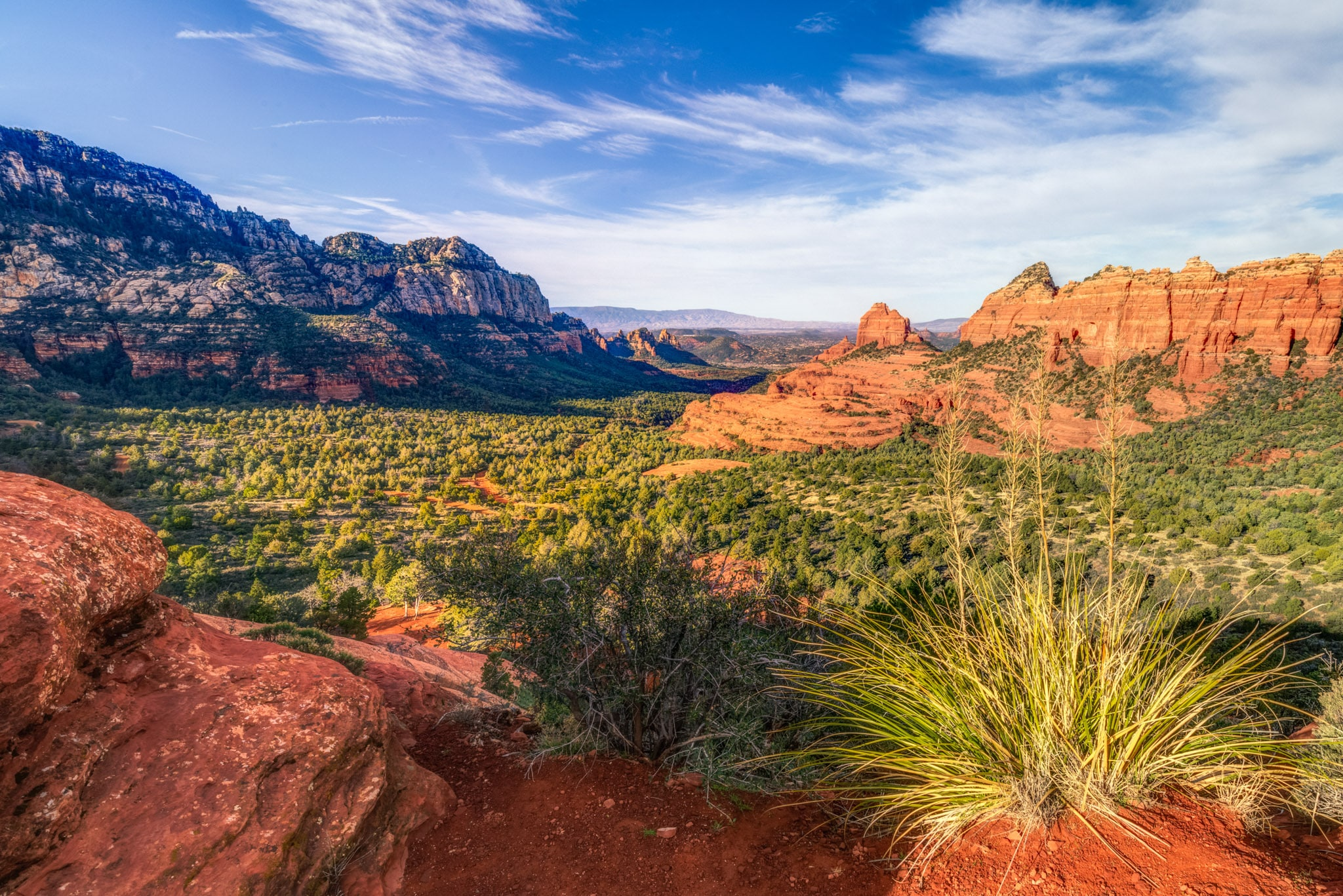 A view down the valley from Schnebly Hill Road to Sedona, Arizona.