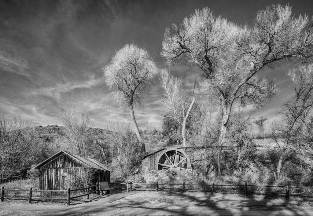 A view of Crescent Moon Ranch building near Red Rocks Crossing in Sedona, Arizona.