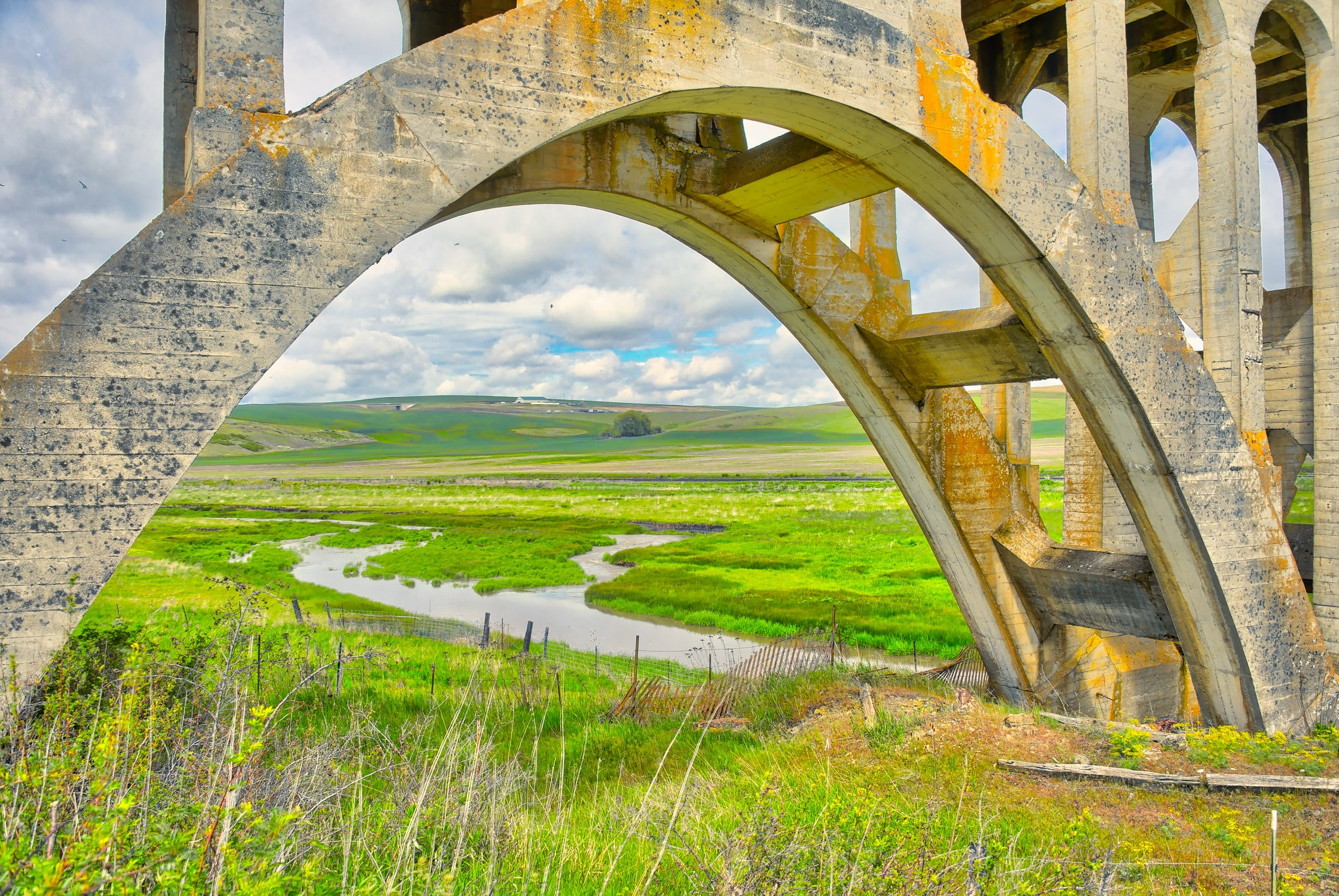 This is a detail shot of the Rosalia Railroad Bridge located just outside Rosalia, in the Palouse region of eastern Washington.