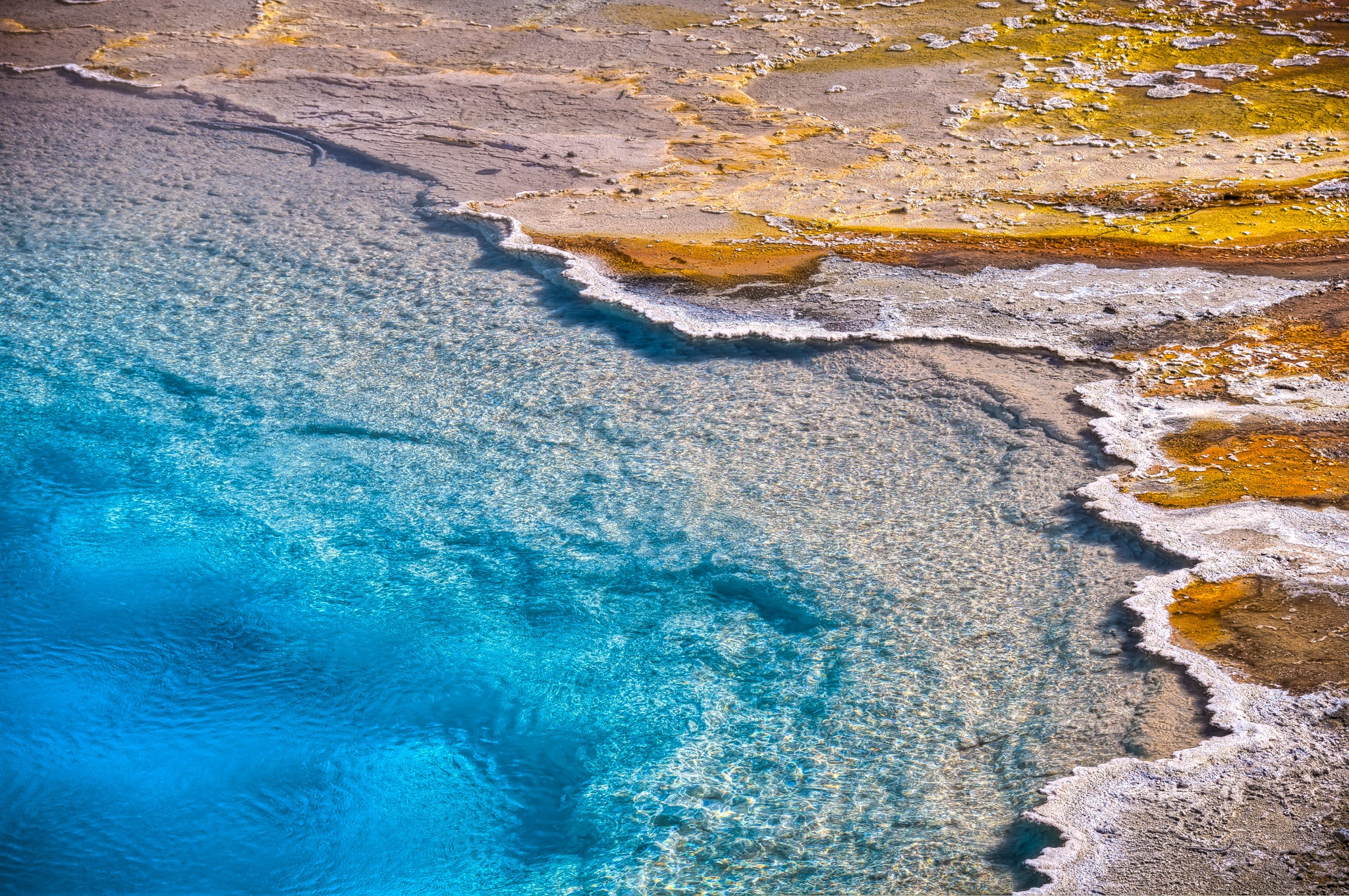 Detail of a hot spring in the Biscuit Basin area of Yellowstone National Park, Wyoming