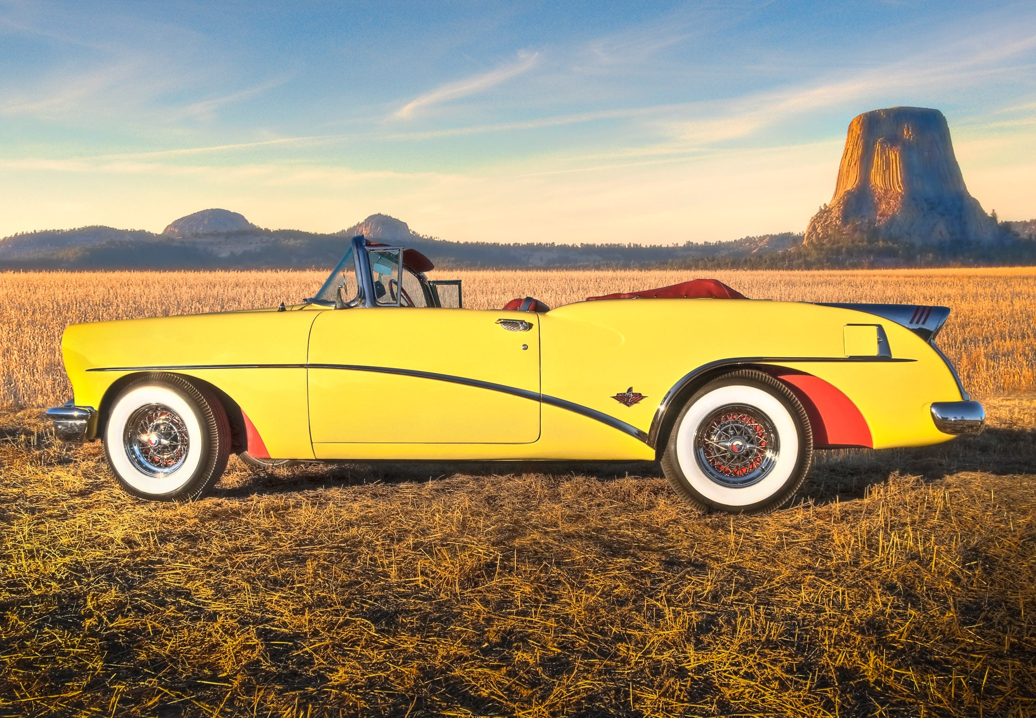 1954 Buick Skylark Sport Convertible Article William Horton Wildcat Ii Concept Yellow
