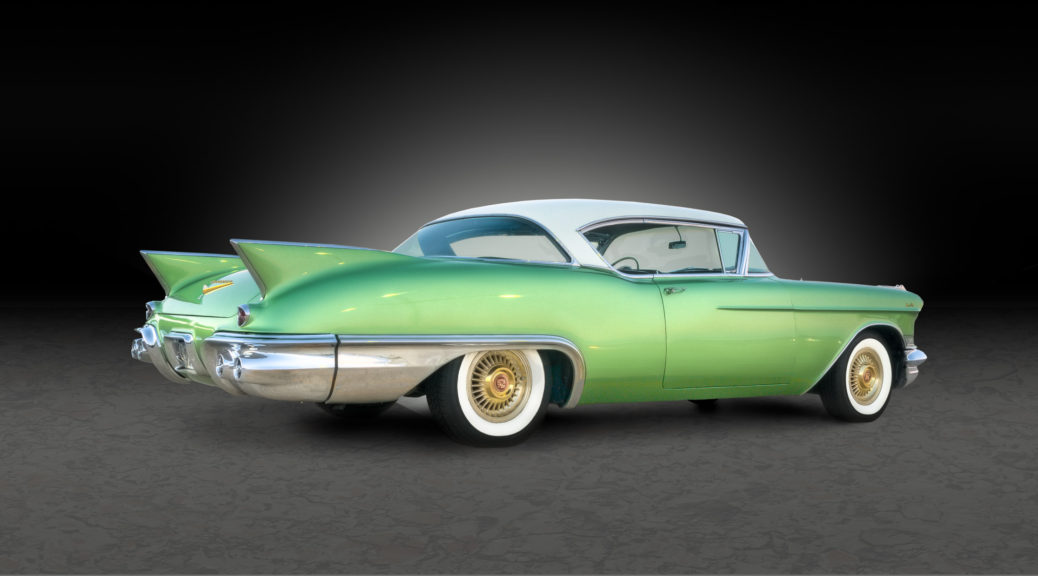 1957 Cadillac Eldorado Seville - Elysian Green - automotive photography