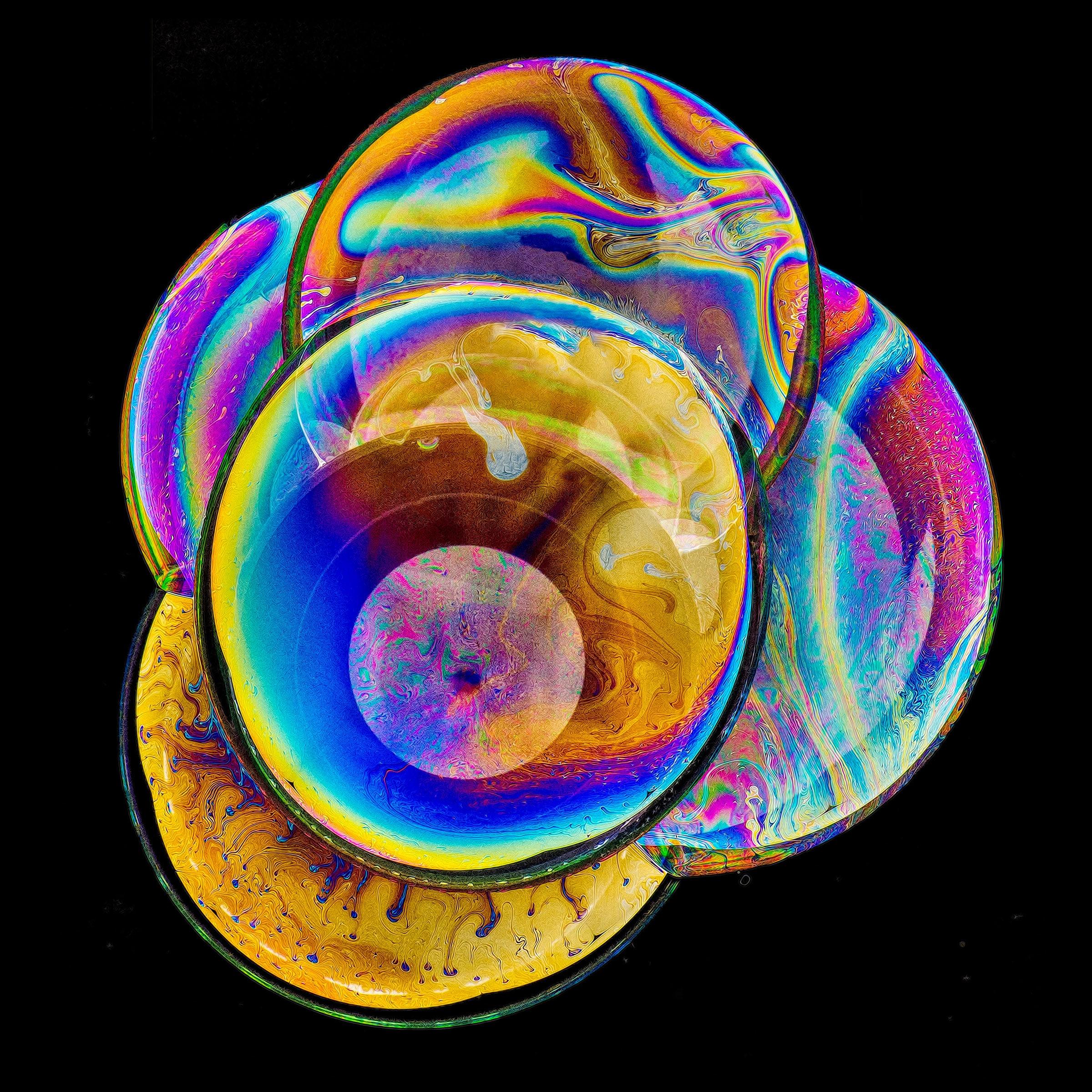 Colorful compound bubbles