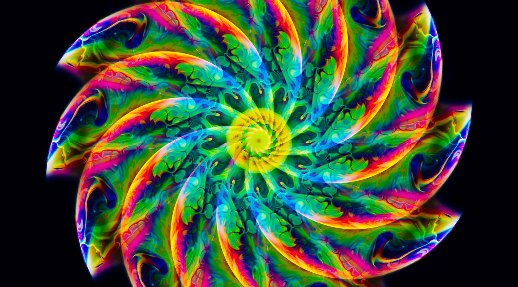 Mandala in color made from slices of a soap bubble. - Color Photographic Mandalas portfolio