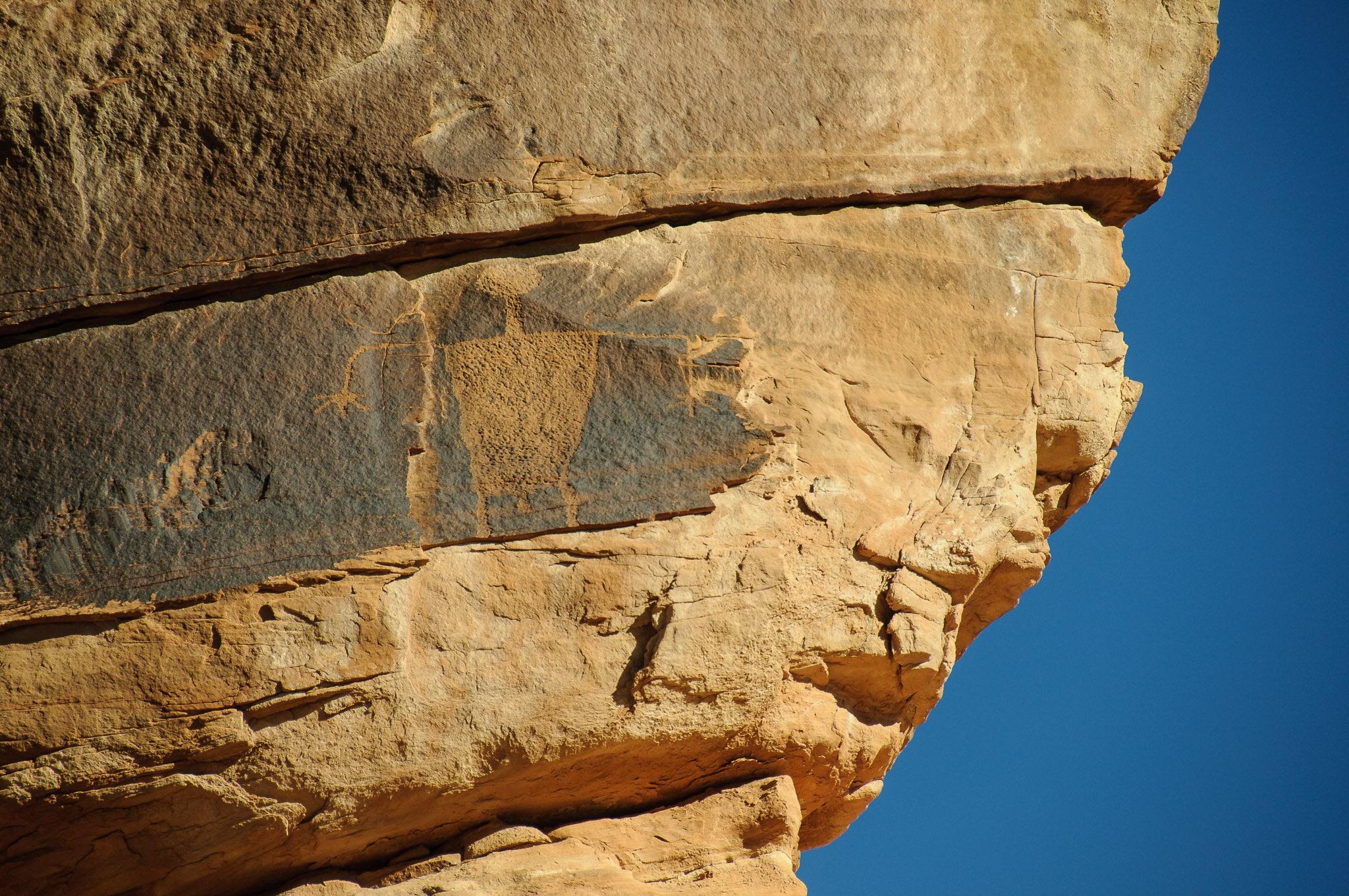 Petroglyph overlooks Cub Creek Road In Dinosaur National Monument.