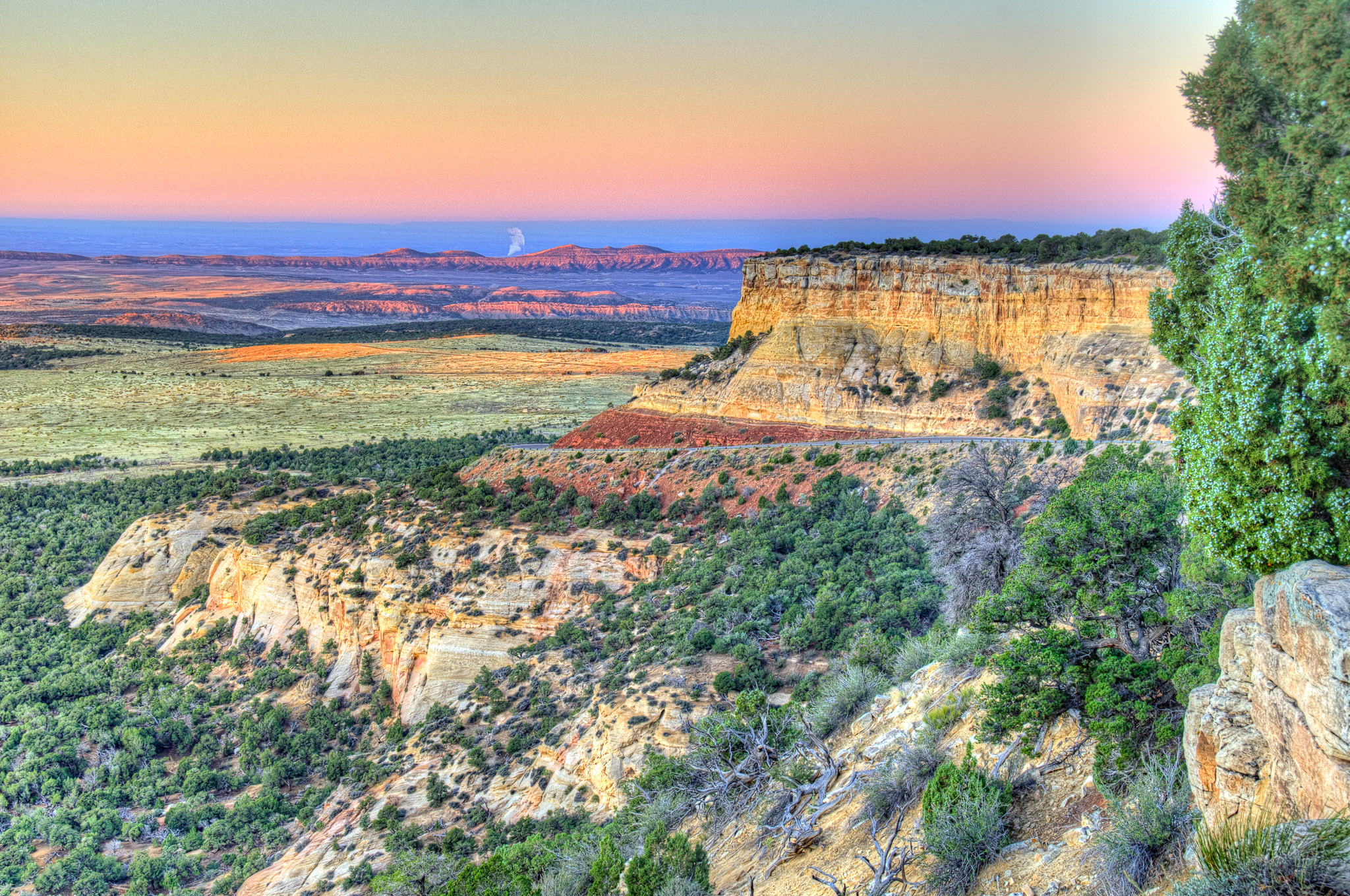 Looking south from Plug Hat Butte Overlook, on Harpers Corner Road in Dinosaur National Monument in Colorado.