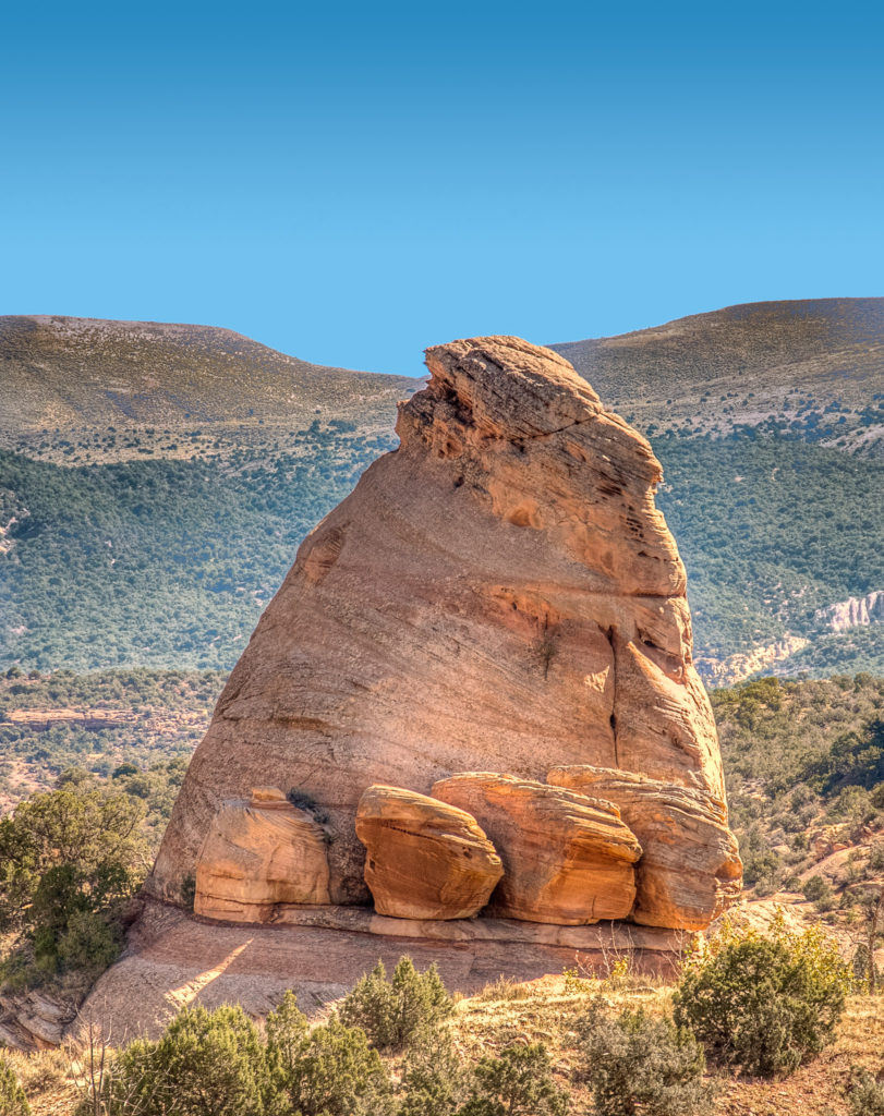 This rock formation sits along Cub Creek Road in Dinosaur National Monument in Utah.