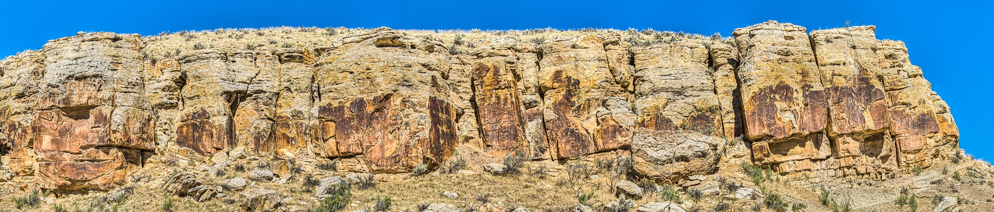 Petroglyphs on the trail at McKee Springs, along Island Park Road, in Dinosaur National Monument in Utah.