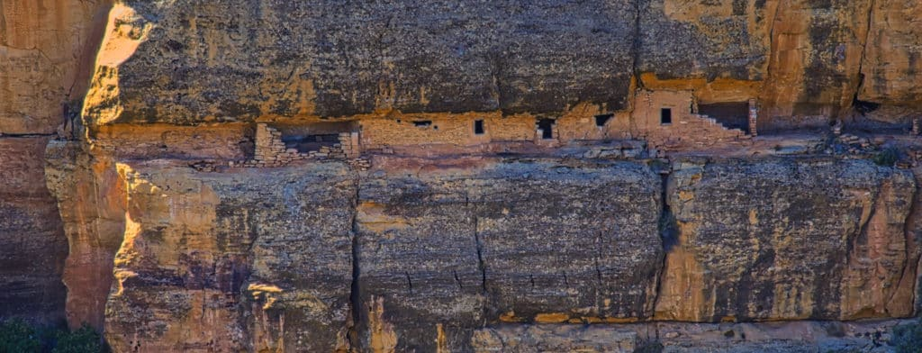 House of Many Windows is an in accessible dwelling on the west side of Cliff Canyon in Mesa Verde National Park near Cortez, Colorado.