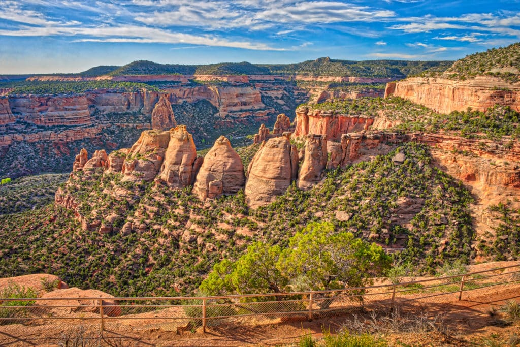 A view of the coke Ovens formation taken from Rimrock Drive in Colorado National Monument near Grand Junction, Colorado.