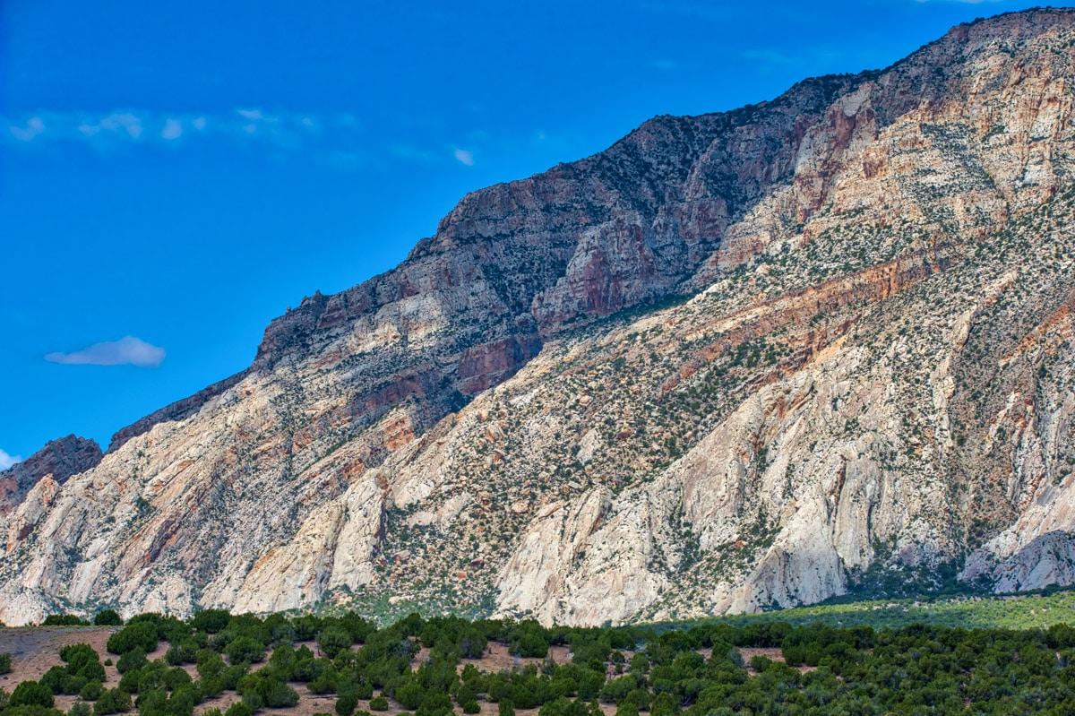 A view of the Blue Mountain Anticline from Blue Mountain Road that runs between US 40 in Utah to Harpers Corner Road in Colorado.