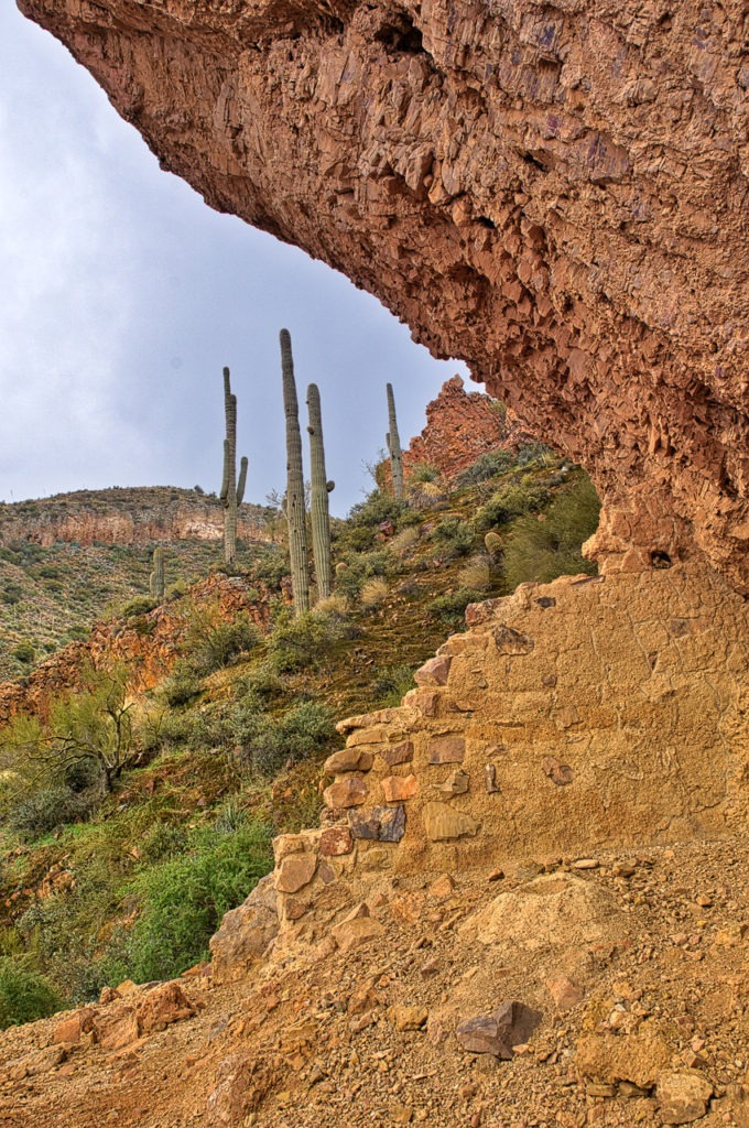 Looking out from Lower Ruins of Tonto National Monument, east of Phoenix, Arizona.