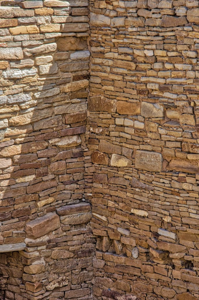 Stone Work at Pueblo del Arroyo in Chaco Canyon, New Mexico.