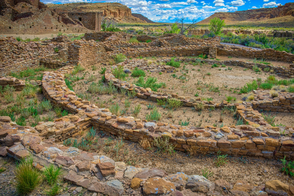 The purpose of a tri-walled structure built at Pueblo del Arroyo in Chaco Canyon, New Mexico, still puzzles archaeologist today.
