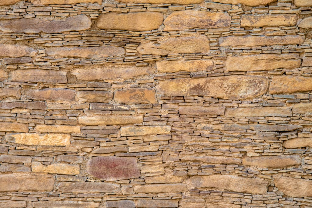 This is a detail of a wall at Chetro Ketl, a great house .5 miles east of Pueblo Bonito. Chetro Ketl has the largest surface area of any Chacoan great house. It is located in Chaco Canyon, New Mexico.