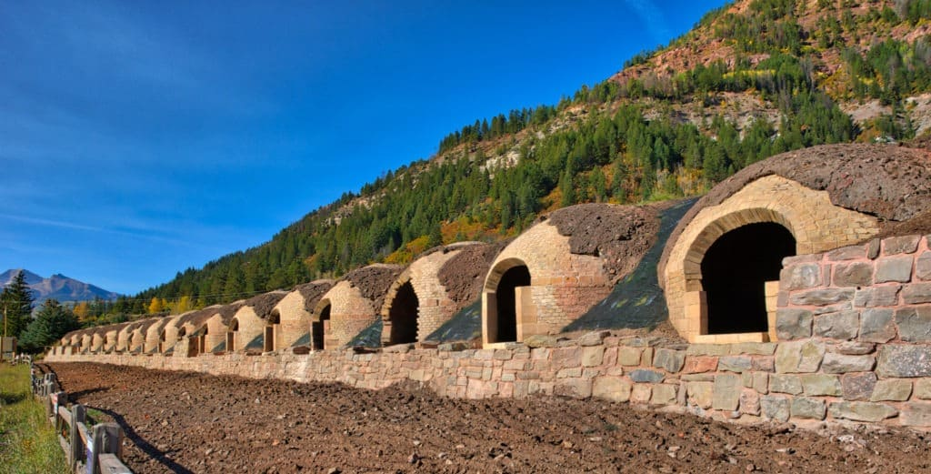 These ovens in Redstone, Colorado, were used to reduce coal, mined nearby, to coke that was used in steel smelting.