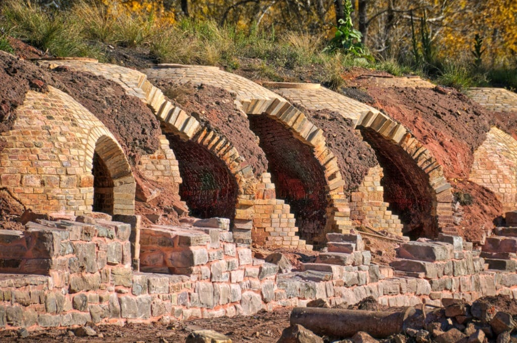 These ovens at the end of the line are not fully restored. They are located in Redstone, Colorado, and were used to reduce coal, mined nearby, to coke that was used in steel smelting.
