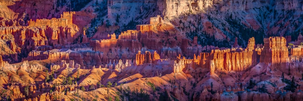 View of the Silent City from Sunrise Point in Bryce Canyon National Park, Utah.