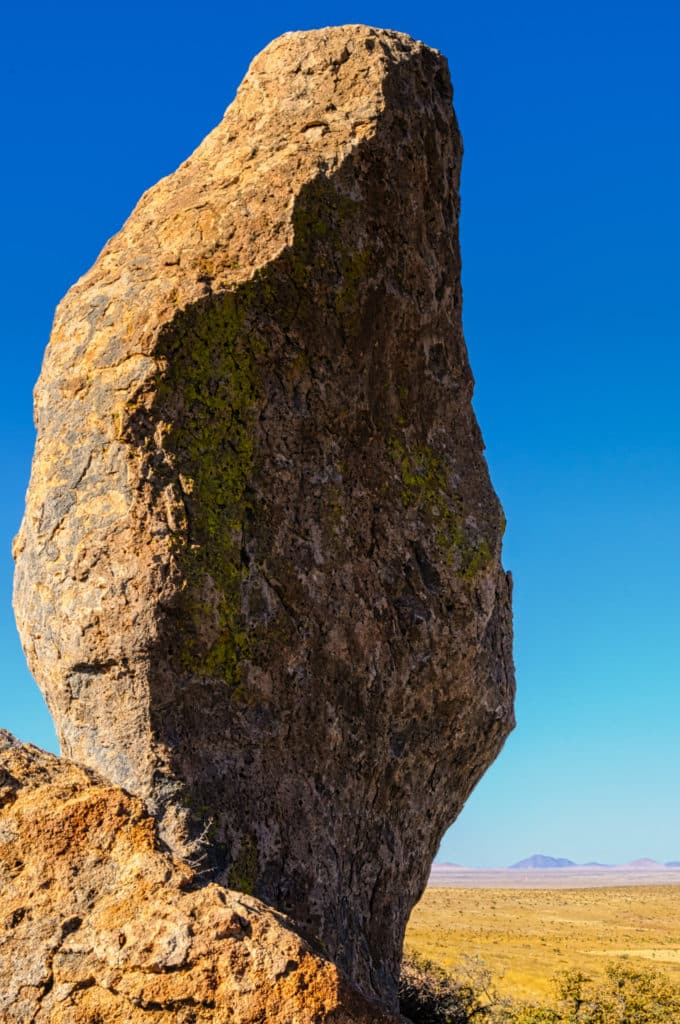 This eroded tuff looks like a sentinel standing guard at one of the portals into City of Rocks in New Mexico.