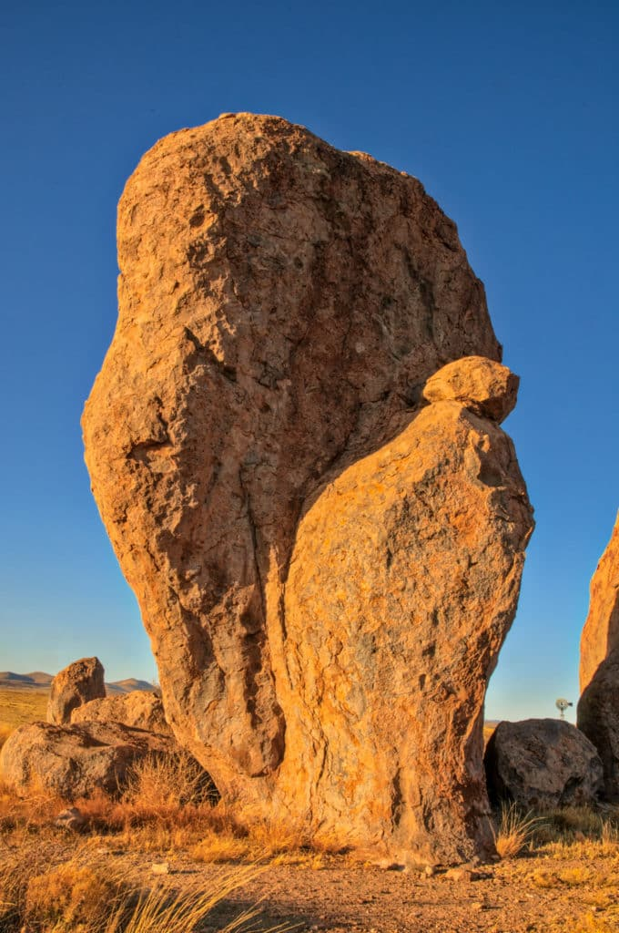This eroded grouping of tuff pinnacles is evocative of a familiar religious scene. Taken in City of Rocks State Park, New Mexico.