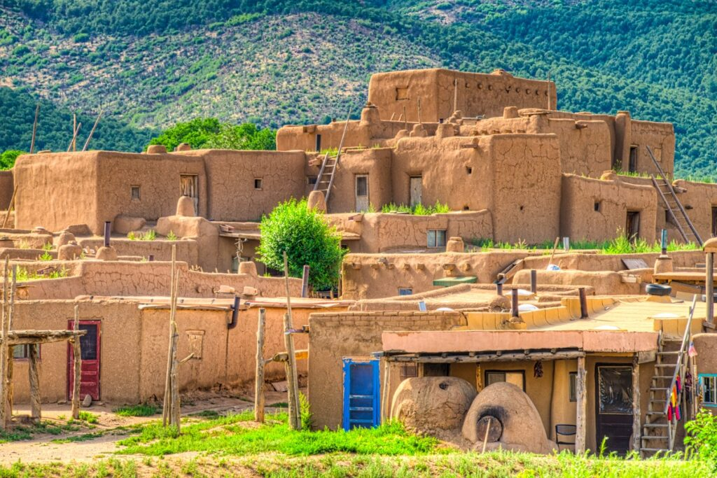 Taos Pueblo is the only living Native American community that has been designated a UNESCO World Heritage site. According to the Taos Pueblo Website, the pueblo is over 1000 years old.