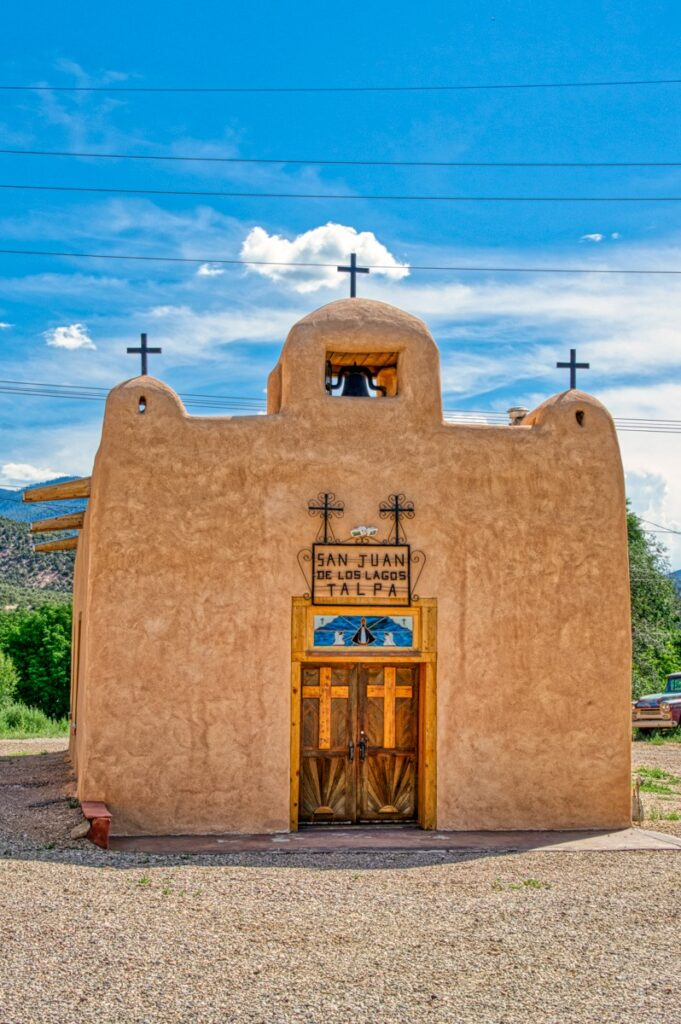 The Chapel of Our Lady of San Juan de los Lagos, near Talpa, New Mexico, was a private chapel built by the prominent Duran family in 1820.