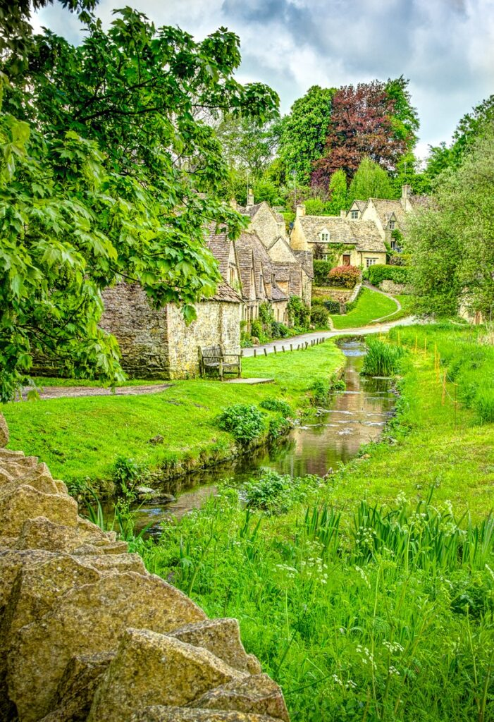 This National Trust property at Arlington Row, Bibury, Gloucestershire, is one of the most photographed areas in the Cotswolds.