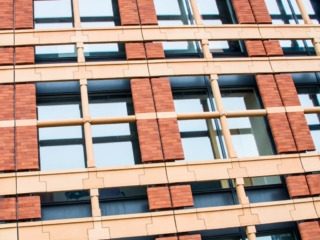 This is a detail of the facade of an office building along Ludgate Hill in the City of London. This image is part of our London architectural abstracts portfolio.