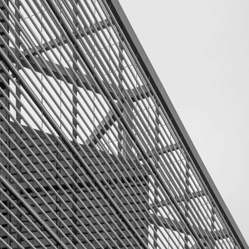 This is a close-up of the More London Building on More London Riverside between London and Tower Bridges. This image is part of our London architectural abstracts portfolio.