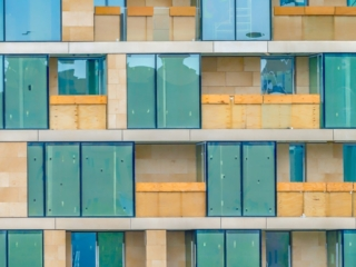 This is a detail of an apartment or hotel complex under construction along the Thames between London Bridge and Tower Bridge. This image is part of our London architectural abstracts portfolio.
