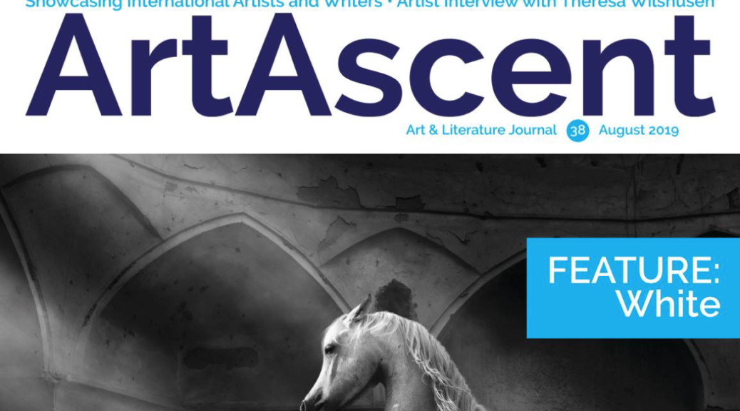 ArtAscent August 2019 cover for the White Edition