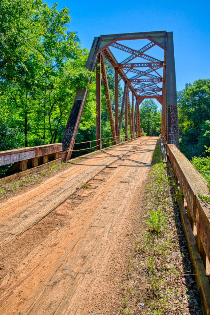 The Bull slough Bridge crosses the Sepulga River near Brooklyn, Alabama, in Conecuh County. Adjacent to the bridge is a launch for the Sepulga River Canoe Trail.